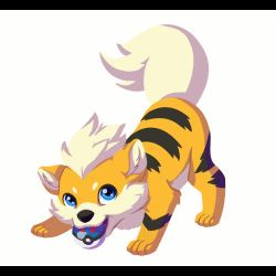 Wagging Growlithe by Pjevsen