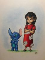 Lilo and Stitch by bubulle23