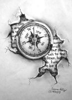 Tattoo Design - Compass by shezaniftyblonde