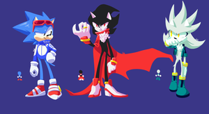 Sonic Trio Redesign by BlacklessAngel