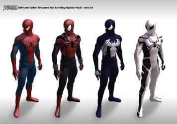 Spider suit Texture set 01 by 6and6