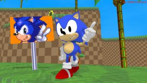 MMD Sonic Newcomer - Classic Sonic +DL+ by MMDCharizard