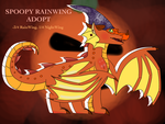 [OPEN]spoopy rainwing adopt auction by skye-leaf