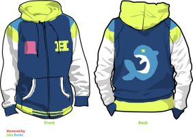 Haruka Nanase Hoodie - Swimming Anime Sketch by Weeaboo-Warehouse