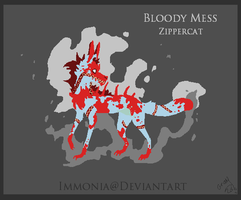 Holiday Zippercat: Bloody Mess [CLOSED] by Immonia