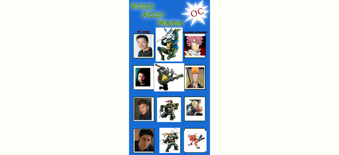 My TMNT Voice Actor Meme (Part 1: The Turtles) by pyrus125680