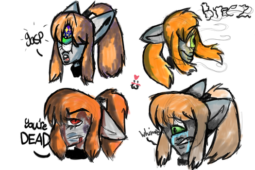 Catsen Faces by insanitywolfartist26