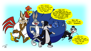 Commission - Looney Tunes Back in Shape by RetroUniverseArt