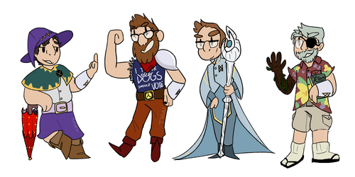 Cuatro McElboys - THE ADVENTURE ZONE AU by NotWerewolf