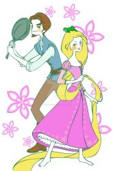 Rapunzel and Flynn by DeedNoxious