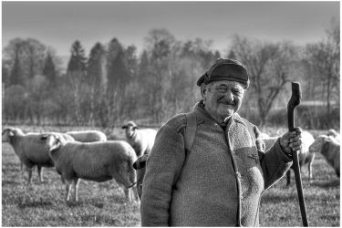 The old man with his sheeps 2 by AtXU