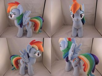 MLP Rainbow Dash Plush (commission) by Little-Broy-Peep