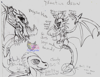DreamRayvernsSelfs and Crawly practice by AngelCnderDream14