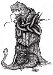 Lovecraft - Yig, the Father of Serpents II by KingOvRats