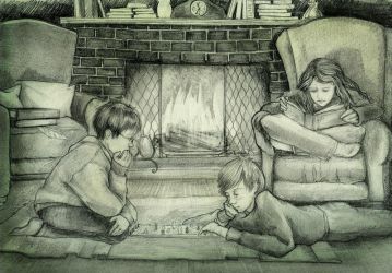 Harry, Ron, and Hermione by gredandfeorge