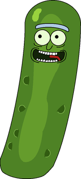 My Drawing of Pickle Rick by ShawnBarba
