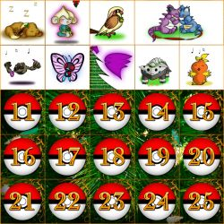Pokemon Advent Challenge by sora1589