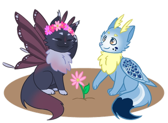 Flower Cuties [Flower Crown/Planter Badge] by duskierel