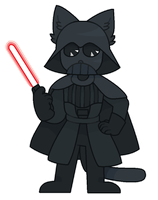 furry vader by obakesama