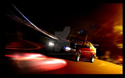 Corolla AE86 in night drift by fliOx