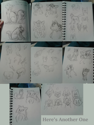 Another Sketch Dump by LillazKoiFish