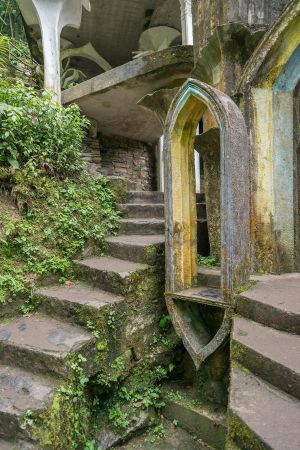 Surreal Castle Window and Stairs Stock by little-spacey
