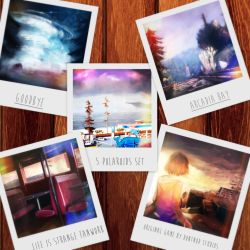 Life is Strange - Paintings Polaroid Set by biyavi