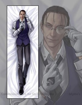 Dakimakura Commission: Walter California Dornez by Myme1