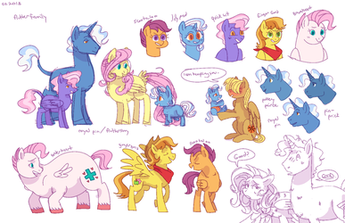 royalpin/fluttershy doodles (colored) by hateful-minds