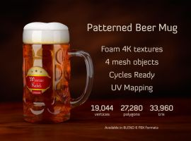 Patterned Beer Mug by M-O-Z-G
