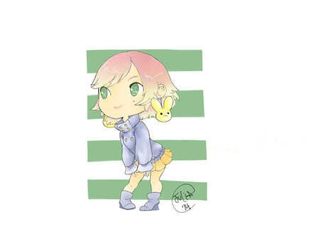 Colored Chibi by thepinkcupcaketurtle
