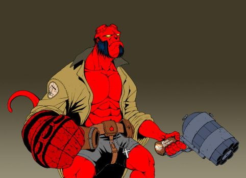 Hellboy by sergiobordon