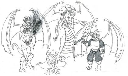 Gargoyles of the Underdark by Galsic
