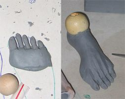Zombie doll foot by batchix