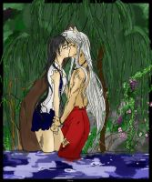 By the Willow - Inuyasha and K by ange-noir