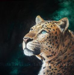 Chinese Panther oil painting by SistaRival