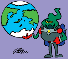 Malloc grabs his world by bakertoons