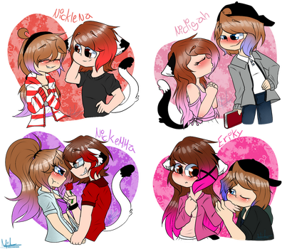 Commission! 6# (For Nini) (couples ) by MiaPaint