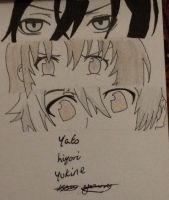 Yato Hiyori and Yukine Noragami drawing by epicbubble7