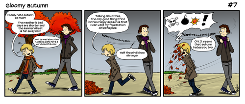 #7 - Luc and Tuc - Gloomy autumn by Bejul