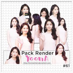 [PACK RENDER #61] YOONA [170713] by michamhet