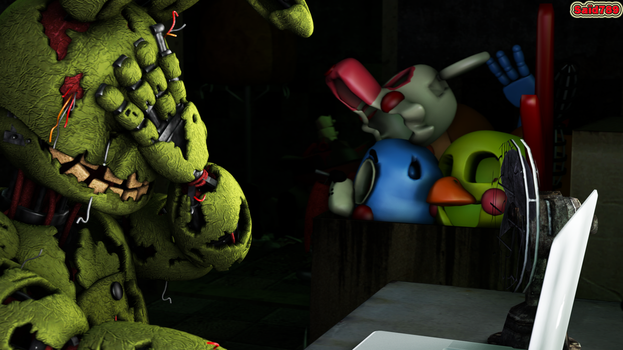 Springtrap reaction to the fnaf fanfiction by said7895