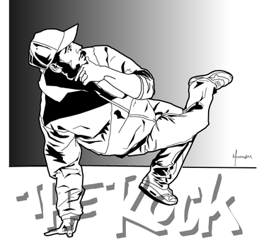 Bboy The Rock by humanologue