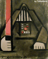 darth vader abstract painting by TOMMERVIK