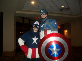 Captain America (child and dad) by Maxspiritangel