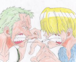 Zoro And Sanji by CNStar92