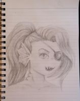 Undyne headshot sketch by SushiiShark