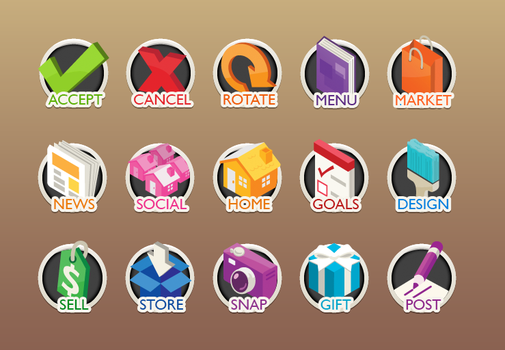 Home Design Story Icons by ValliantCreations