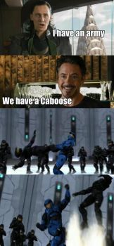 The Avengers have Caboose!!!!! by Dustiniz117