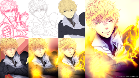 Genos One Punch Man Step By Step by acewalker04